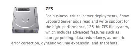 ZFS apple