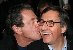 Charles Wolf Kissing Fake Steve Jobs, Dan Lyons
