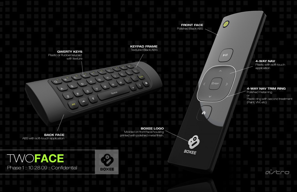 Boxee Box Remote Mock-Up