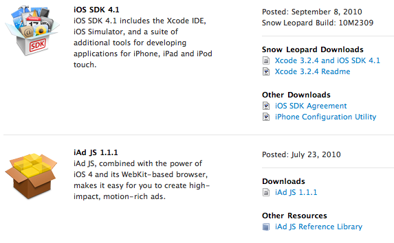 Apple updates iOS SDK 4 1 - 9to5Mac
