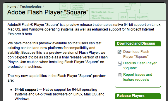 Adobe releases 64-bit Flash Beta | 9to5Mac