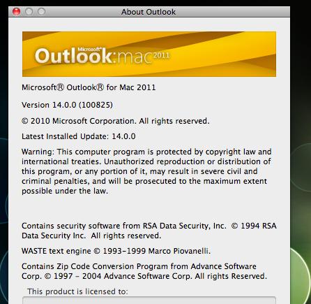 Office 2011 for Mac hits Microsoft volume licensing servers