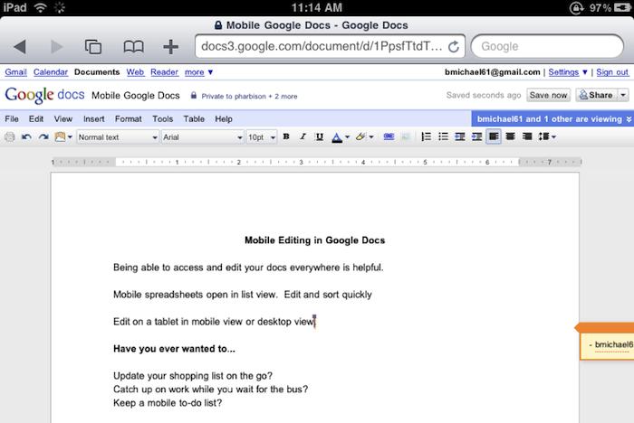 Desktop Version Of Google Docs Now Works On Ipad 9to5mac