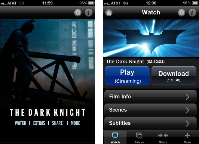 Warner Bros  selling movies as apps to workaround iTunes movie store