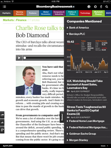 Bloomberg Businessweek debuts iPad app with inexpensive