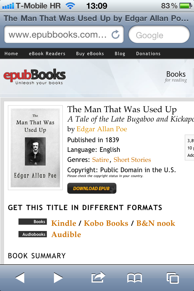 iBooks can now open ePub files on web pages and in email messages