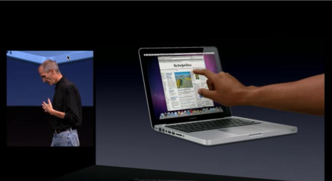 Apple September 2010 event (MacBook Air, no multitouch on display)