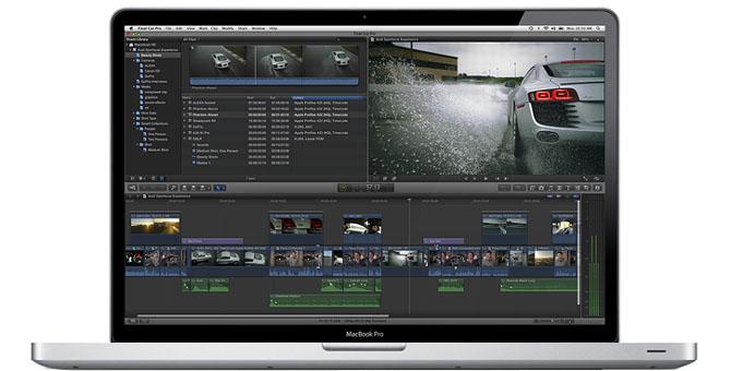 Final Cut Pro X (MacBook Pro, lid open, front)