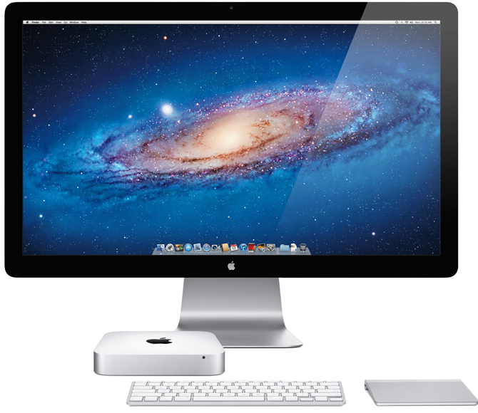 Mac mini mid-2011 (Apple Thunderbolt Display, MagicTrackPad)