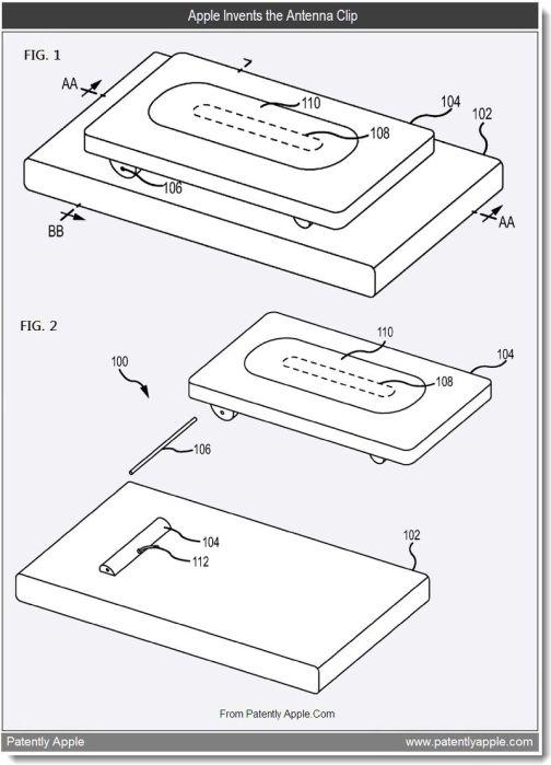 apple patents  iphone antenna clip  fingerprint reducing