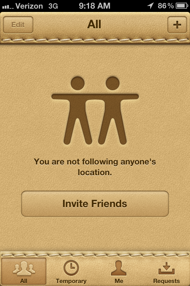 Find my friend app does not work