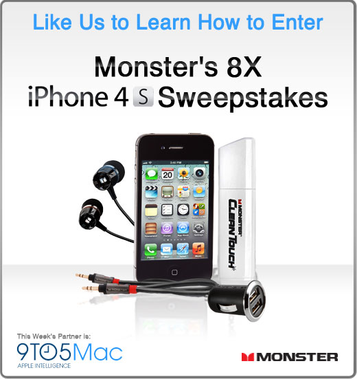 Monster Cable and 9to5Mac are sponsoring free iPhone 4S