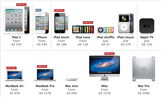 Apple Store Black Friday Deals go live (in Australia+New
