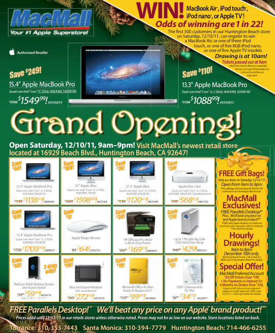 MacMall is your source for Everything APPLE. Get the best deals on Mac computers, iPads, iPods, Mac Software, Mac Accessories, high-end consumer electronics and more!Location: Beach Blvd, Huntington Beach, CA