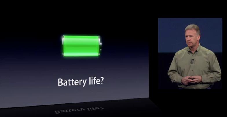 Battery life phil schiller