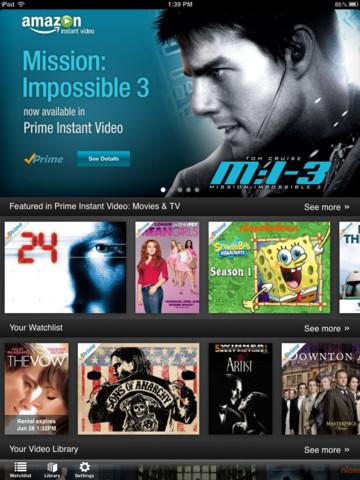 Amazone Prime Instant Video App