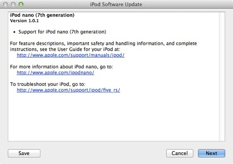 Apple Releases Minor Version 101 Update For New Ipod Nano 9to5mac
