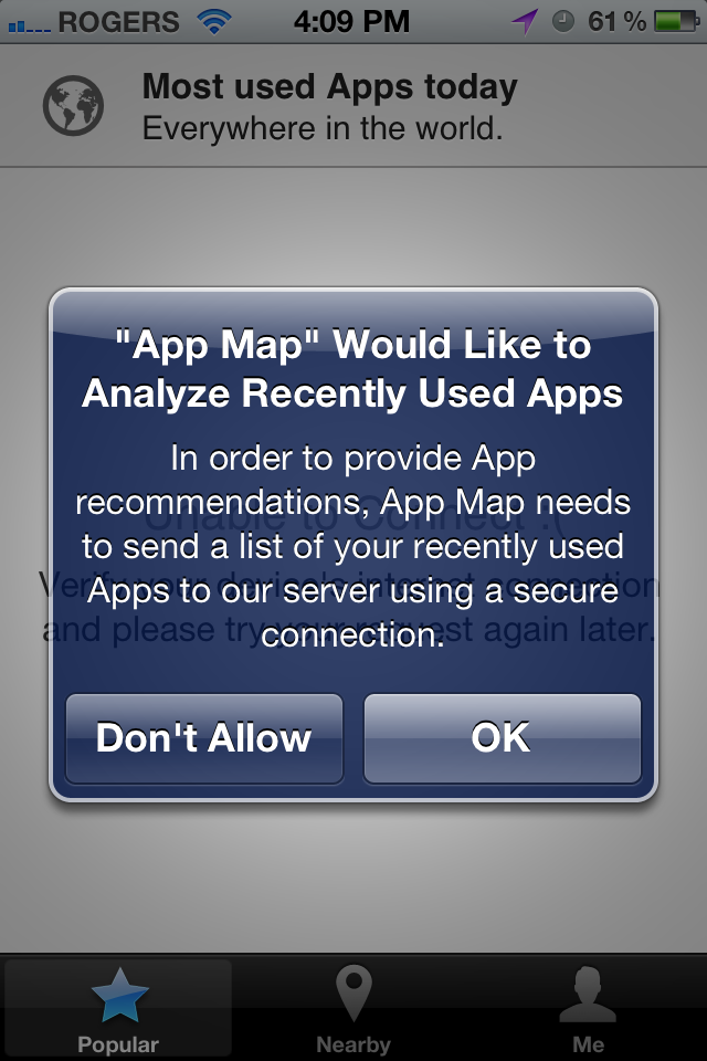 Discover what apps people nearby are using with App Map for