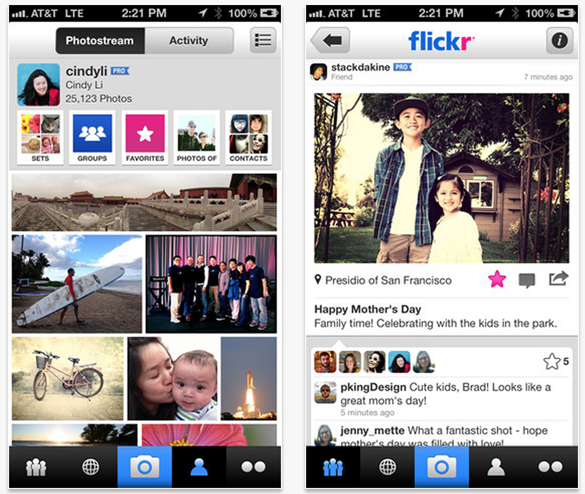 Flickr iOS app 2.0