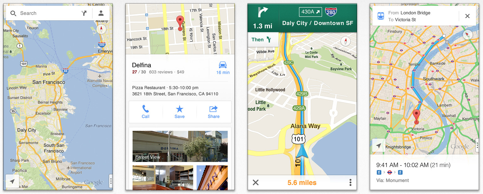 Google releases official Google Maps application for iPhone ... on microsoft maps, iphone maps, bing maps, search maps, topographic maps, road map usa states maps, ipad maps, stanford university maps, goolge maps, online maps, android maps, gogole maps, msn maps, waze maps, gppgle maps, amazon fire phone maps, aeronautical maps, googlr maps, aerial maps, googie maps,