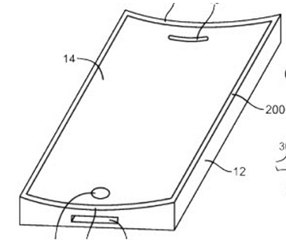 Curved-Glass-Apple-Patent