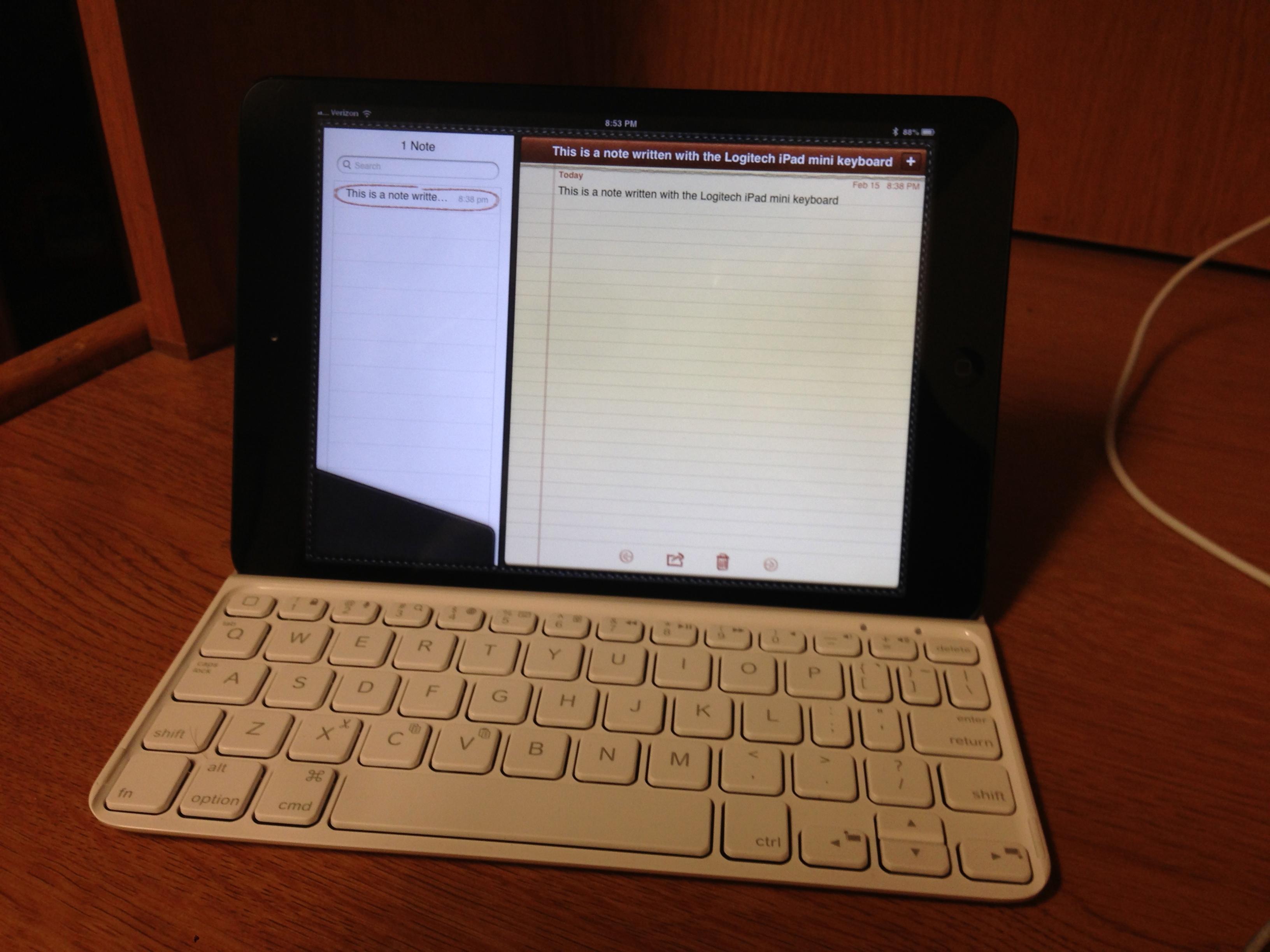 Review: Logitech's Ultrathin Keyboard for iPad mini is like