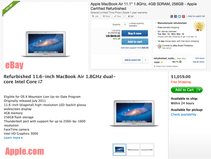 Apple S Ebay Store Offers Significantly Better Deals On Apple Com Refurbs And That S Before Tax Payment Advantages 9to5mac