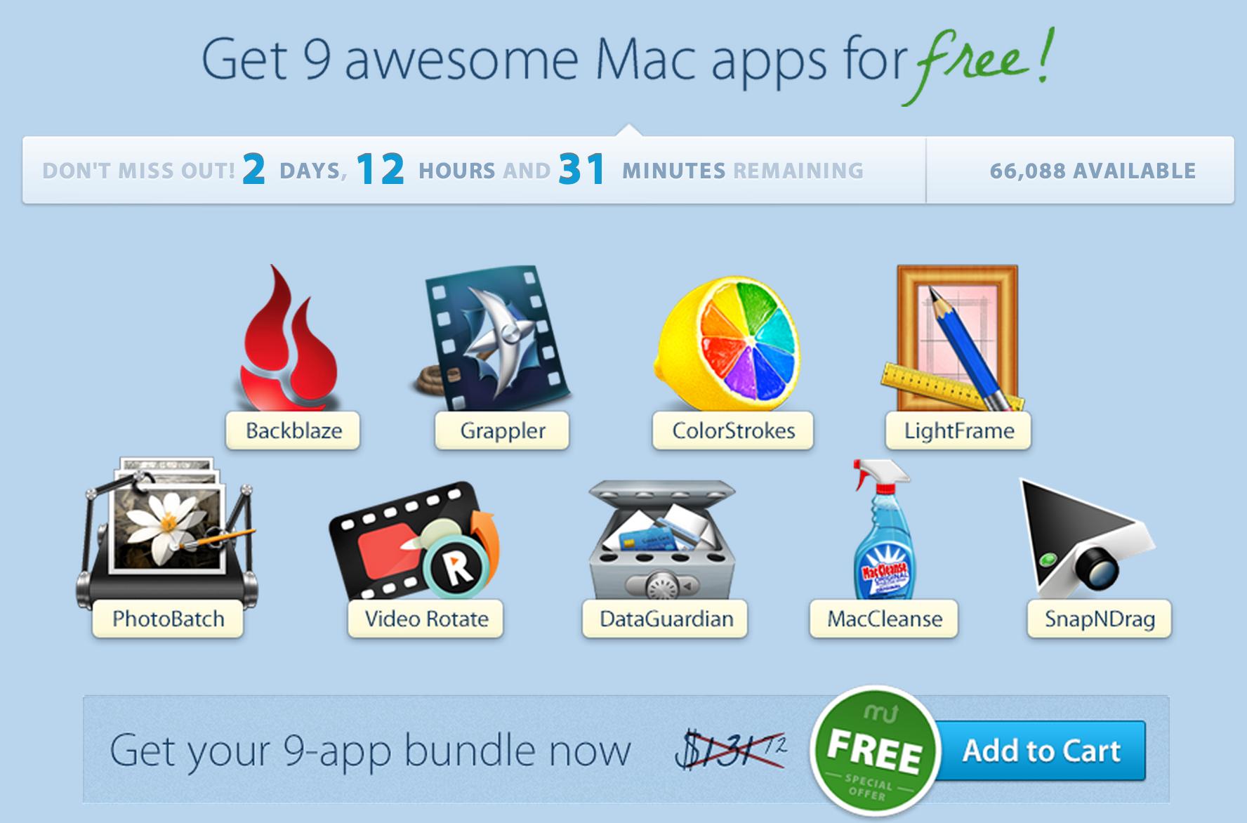 Free Mac App bundle: Grappler, MacCleanse, Data Guardian, Video