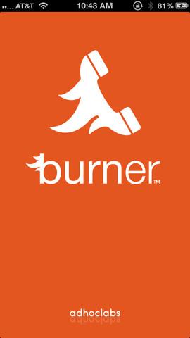 Burner-iOS-app