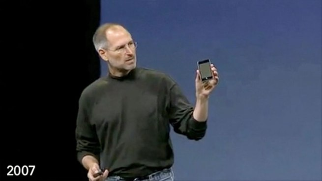 Steve Jobs announcing the first iPod touch