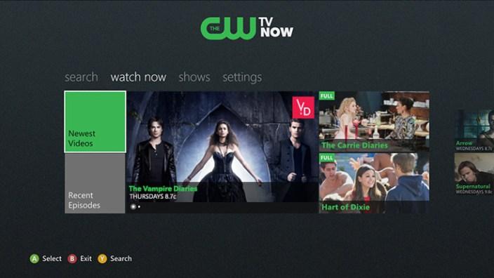 CW's Xbox app