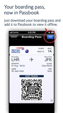 British Airways Adds Passbook Support For Digital Boarding
