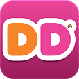 "Dunkin' Donuts icon without the ""gloss"" that previous versions of iOS add"