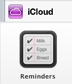 Early iCloud and Reminders icons.