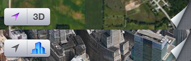 The original Flyover icon compared to the current Flyover icon.