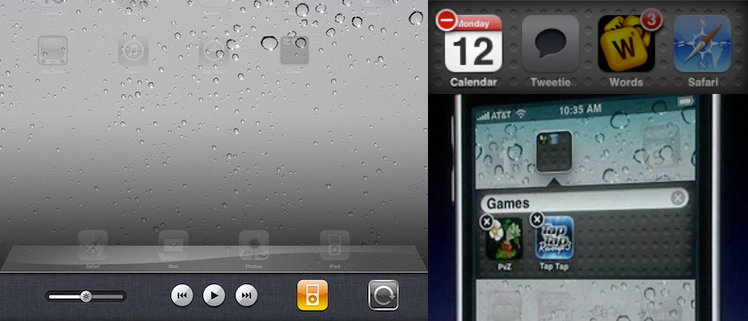 Some of the UI ideas Apple played around with for iOS 4.