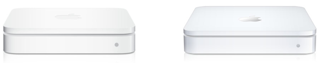 AirPort Extreme (left) and Time Capsule (right)