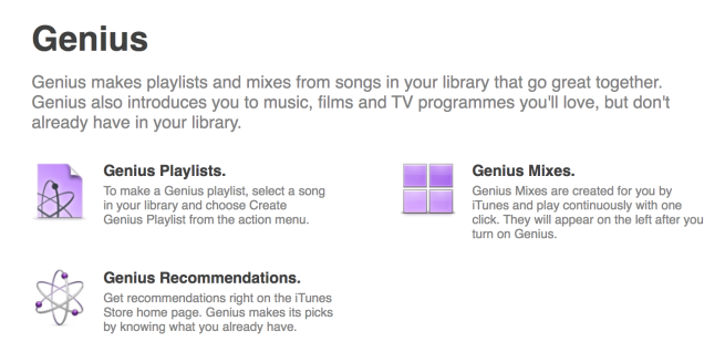 iTunes Explains Genius