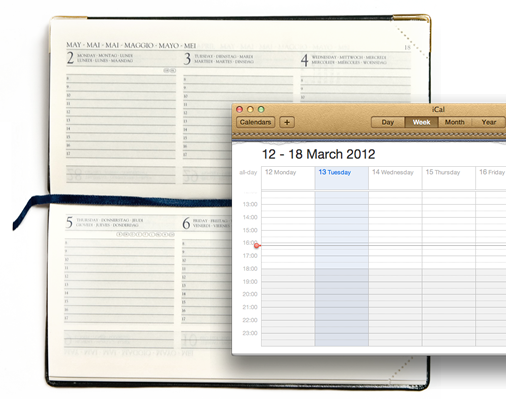 OS X Calendar vs. Real Calendar (via Medialoot)