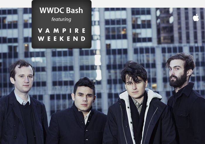 Vampire Weekend will perform for WWDC attendees this year.