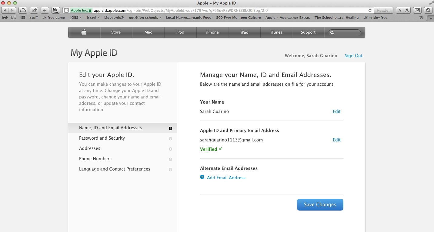 forgot apple id email address