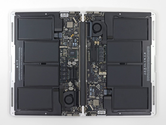 MacBook Air batteries (via iFixit)