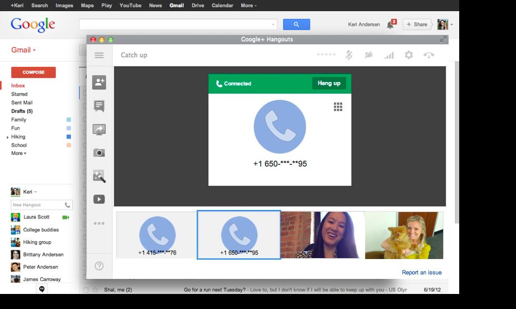 Hangouts-gmail-video call 2