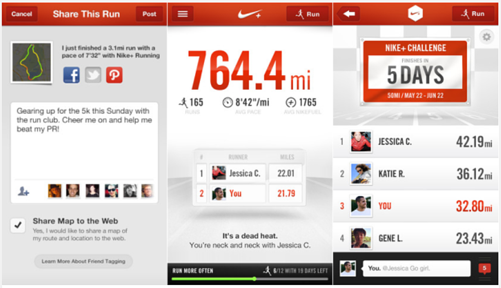 Nike+ Running iOS app offers virtual races with friends, group chat