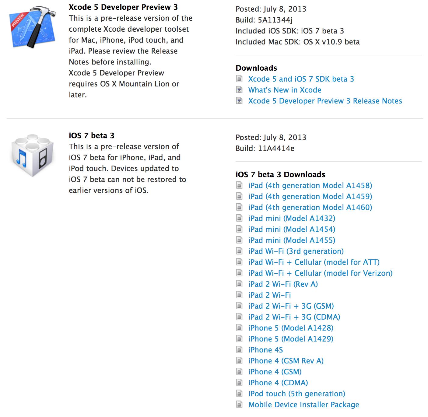 iOS 7 beta 3 seeded to developers: UI, Safari, Calendar
