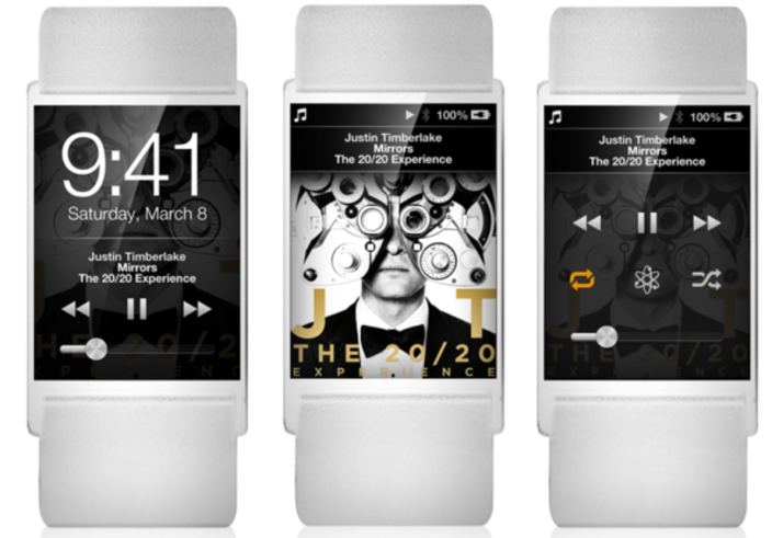 iWatch fan mockup