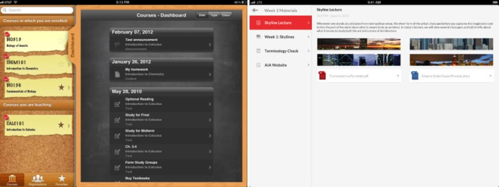 Before and after comparison for Blackboard Mobile Learn.