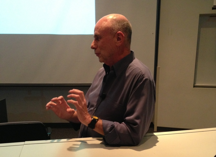 Former Apple advertising consultant Ken Segall at the University of Arizona in March, 2013.