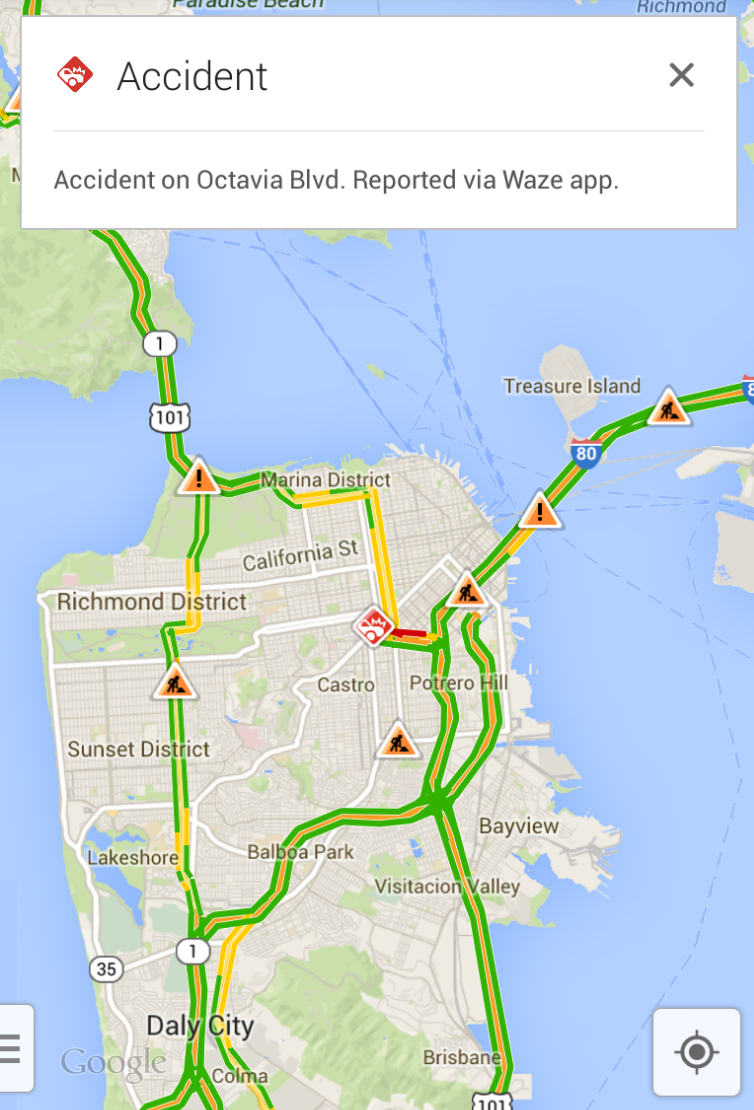 Real-time-waze-reporting-google-maps