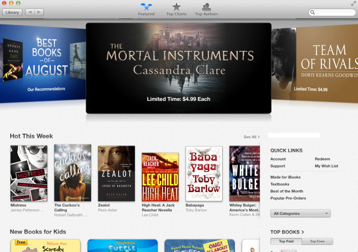 Latest OS X Mavericks Preview showcases iBooks for Mac